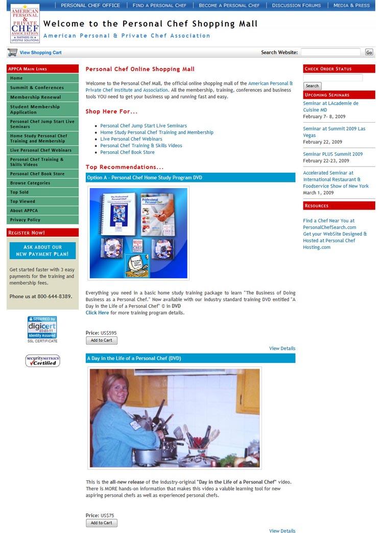 american personal private chef association web portals hashe computer solutions pvt ltd. Black Bedroom Furniture Sets. Home Design Ideas