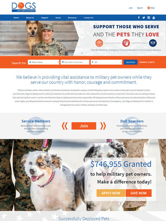 New Dogs on Deployment Web Page Picture
