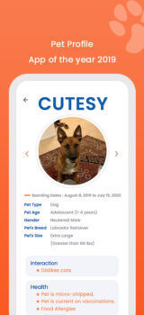 DoD Pet profile Mobile App
