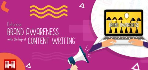 Enhance Brand Awareness blog picture with laptop on right