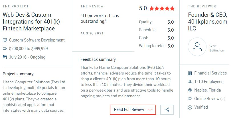 Clutch Reviews, Hashe Computer Solutions (Pvt) Ltd.